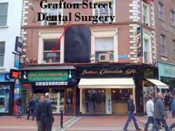 Loaction of Grafton Street dental practice