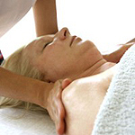 Osteopathy massage on a woman