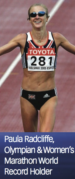 Olympic athlete & world record holder Paula Radcliffe